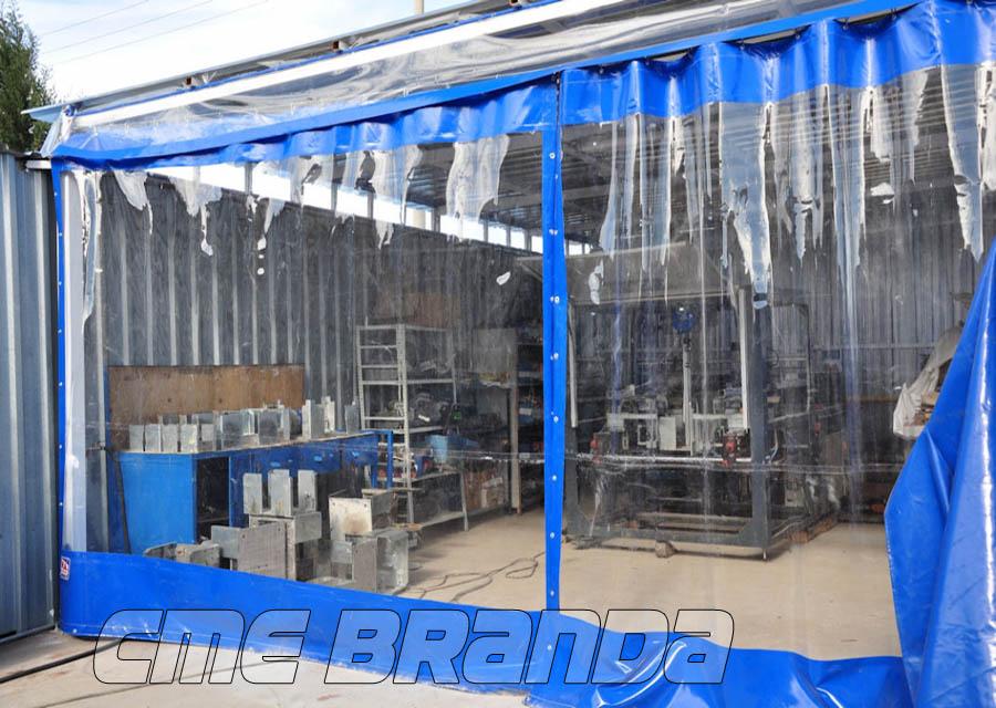 şeffaf fabrika ara bölme brandası