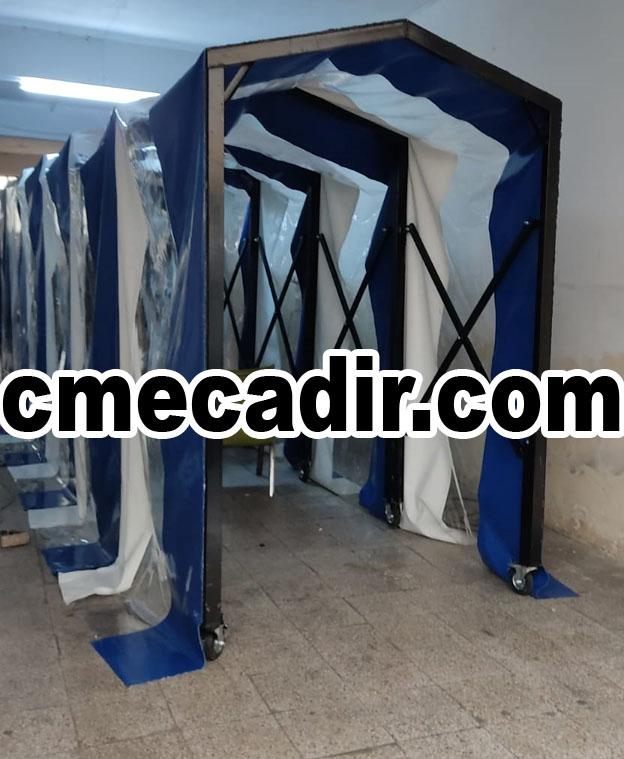 Akordiyon şeffaf ve polyester brandalı tünel çadır