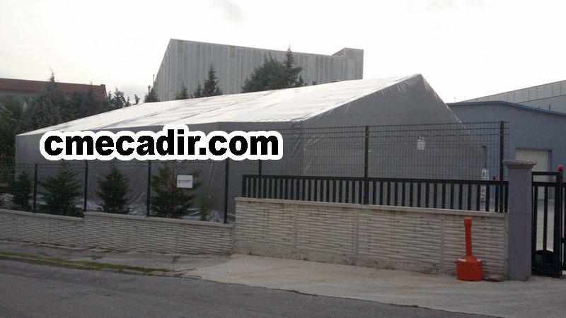 Gri renkte Çatılı Model Depo Çadırı
