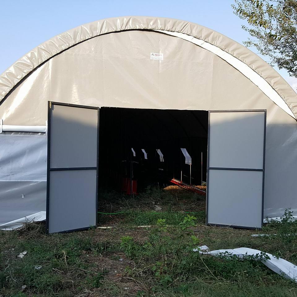 Çİft Açılır Kapılı Şantiye Çadırı